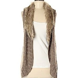Fenn Wright Manson Open Knit Sleeveless Cardigan